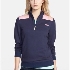 Vineyard Vines Oversized 3/4 ZIP Pullover SZ XS